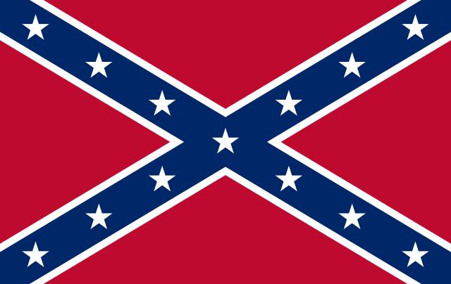 The so-called Rebel Flag. Wikimedia Commons.