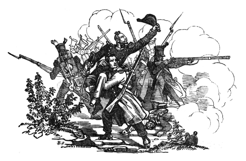 """Sonderbund War, Switzerland, 1847: Scene from the Battle of Airolo,"" Wikimedia Commons."