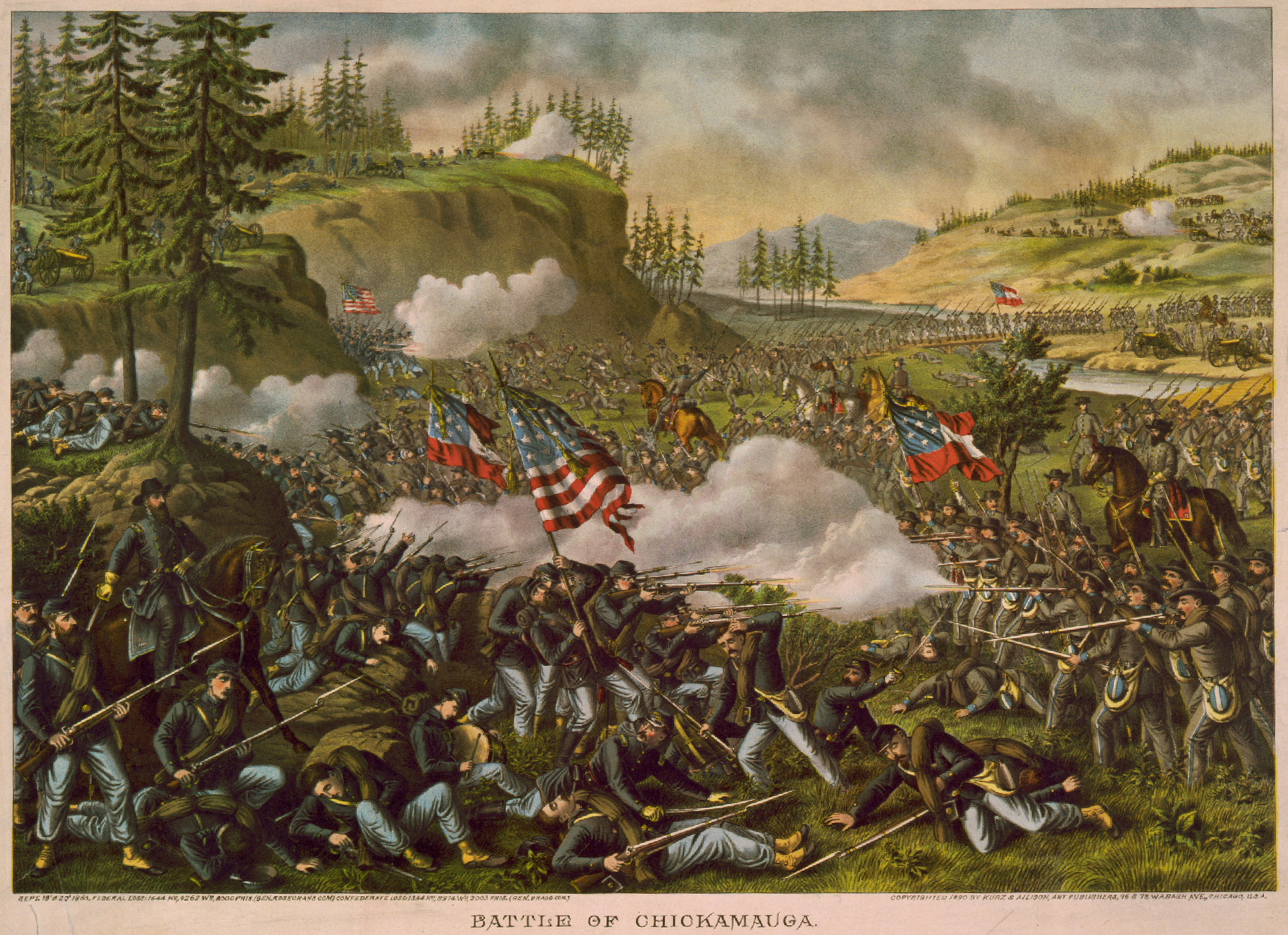 The Battle of Chickamauga, witnessed by Nadine and described in her diary.