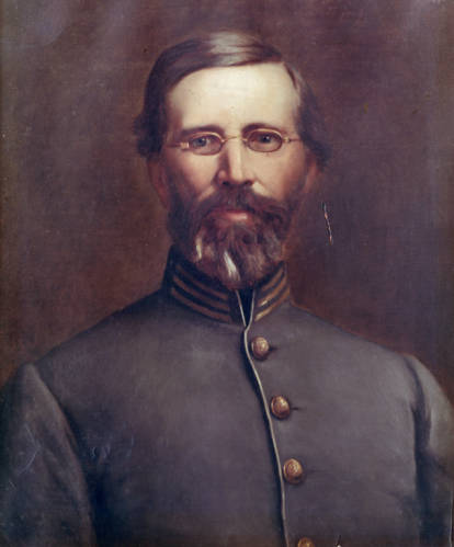 An oil portrait of Francis H. Smith, the first superintendent of VMI. Photo via the VMI archives
