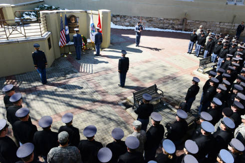 The Jonathan Daniels Ceremony from March 2014. Photo via the VMI archives.
