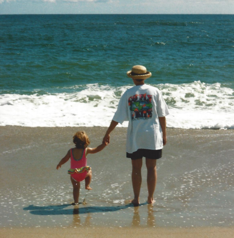 The author and her aunt at Cape Hatteras National Seashore, October 1997. Courtesy of the Andrioli Archives, a.k.a. the author's mother, April Andrioli.