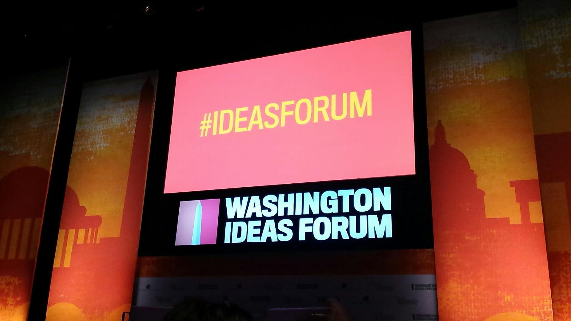 The Washington Ideas Forum, Washington D.C. Photo taken by the author, September 29, 2016.